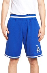 Mitchell And Ness Men's Playoff Win Los Angeles Dodgers Mesh Warm Up Shorts