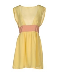 Vintage 55 Short Dresses Yellow