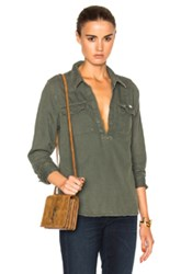 Mother Frenchie Frenchie Top In Green