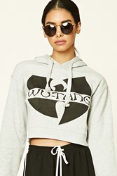 Forever 21 Wu Tang Graphic Hoodie Heather Grey Black