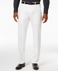 Sean John Men's Classic Fit White Linen Dress Pants