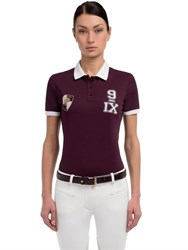 Miasuki Taffy Embroidered Pique Polo Shirt