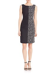 Lafayette 148 New York Vista Faith Dress Black Multi