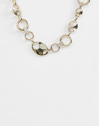 Warehouse Chunky Necklace In Gold