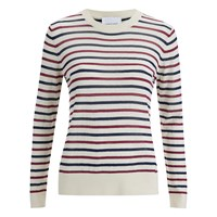 Samsoe And Samsoe Women's Mallie O Neck Striped Jumper Breton Beet
