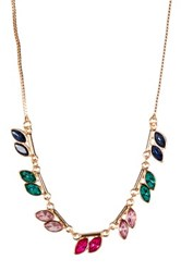 14Th And Union Ombre Navette Short Necklace Pnk Multi Gold
