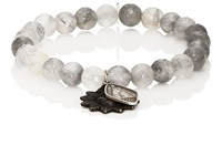 Miracle Icons Vintage Icon Beaded Bracelet Gray