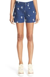 Stella Mccartney Women's Floral Print Denim Shorts