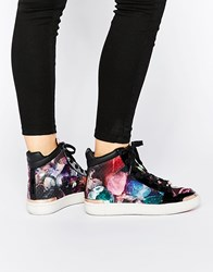 Ted Baker Paryna High Top Sneakers Text Af Pebbles