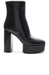 Alexander Wang Leather Cora Booties In Black