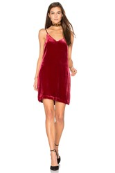 Elizabeth And James Sidney Frosted Velvet Cami Dress Red