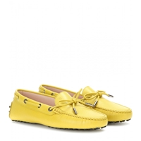 Tod's Heaven New Laccetto Leather Loafers Yellow Lime