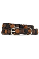 Rag And Bone Arrow Woven Leather Belt Brown