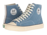 Pf Flyers All American Hi Light Petrol Canvas Lace Up Casual Shoes Blue
