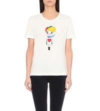 Love Moschino Doll Cotton Jersey T Shirt White