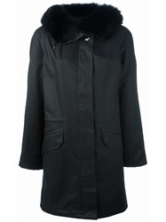 Yves Salomon Fur Trimmed Parka Black