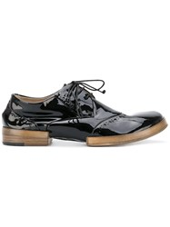 Marsell Lace Up Shoes Women Leather Patent Leather Rubber 37 Black