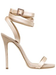 Giuseppe Zanotti For Jennifer Lopez 120Mm Satin Wrap Around Sandals