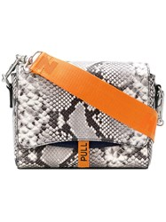 Heron Preston Printed Flap Bag Grey