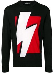 Neil Barrett Lightning Bolt Jumper Black