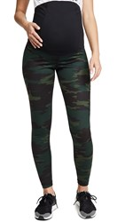 Ingrid And Isabel Active Leggings With Crossover Panel Green Camo