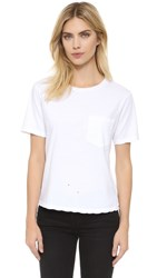 Amo Tomboy Pocket Tee White With Destroy