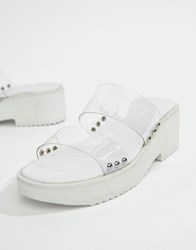 Asos Design Fitz Clear Mules White Clear