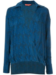Manning Cartell Printed Plunge Blouse Blue