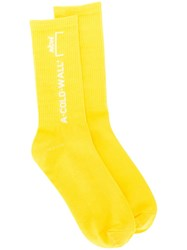 A Cold Wall Design Socks Yellow