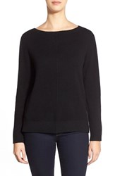 Nordstrom Women's Collection Boatneck Cashmere Sweater Black