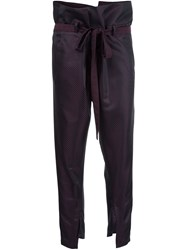 Ann Demeulemeester 'Cortez' Trousers Pink And Purple