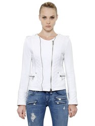 Balmain Heavy Cotton Jersey Biker Jacket
