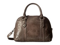 Frye Melissa Domed Satchel Ice Antique Pull Up Satchel Handbags Brown