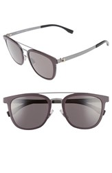 Boss Men's 838 S 52Mm Sunglasses Burgundy Ruthenium Burgundy Ruthenium