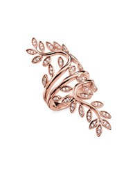 Thomas Sabo Tendrils Large Sterling Silver Swirl Ring Rose Gold