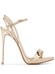 Le Silla Ankle Strap 1300Mm Heel Sandals Gold
