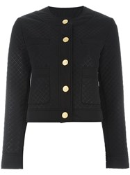 Love Moschino Quilted Fitted Jacket Black