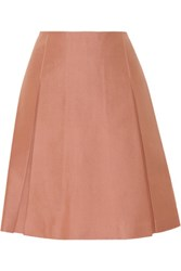Jill Stuart Vika Pleated Cotton And Silk Blend Skirt Antique Rose