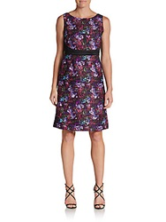 Chetta B Stained Glass Print Dress Floral Multi
