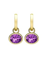 18K Gold Eternal Amethyst Drop Earrings Kiki Mcdonough Purple