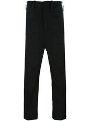 Ann Demeulemeester Straight Leg Trousers Black