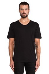 Alexander Wang Pima Cotton Low Neck Tee Black