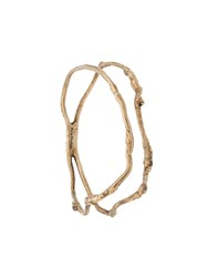 Acne Studios Double Loop Bracelet Gold