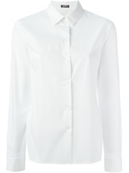 Jil Sander Navy Side Slit Shirt White