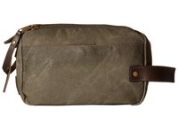 Will Leather Goods Yocum Ridge Travel Kit Olive Travel Pouch