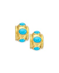 Turquoise Huggie Hoop Earrings Elizabeth Locke