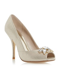 Untold Dimmera Embellished Court Shoe Metallic
