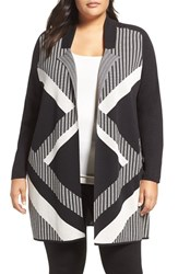 Nic Zoe Plus Size Women's Frontline Cotton Sweater Jacket
