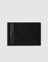 Thom Browne Money Clip Wallet In Pebble Grain Black