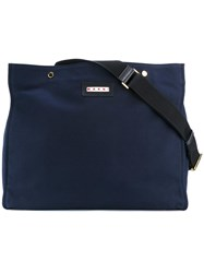 Marni Canvas Shopping Tote Blue